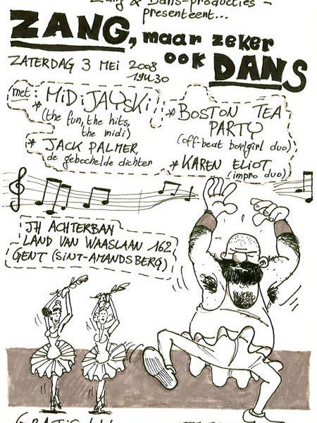 Karen Eliot live at 'Zang, maar zeker ook dans' in JH Achterban