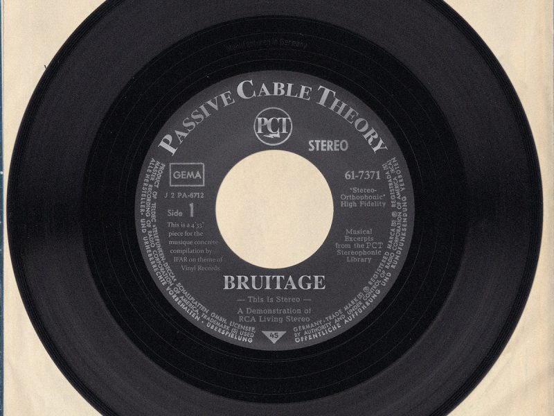 New Passive Cable Theory track on IFAR compilation: 'BRUITAGE'