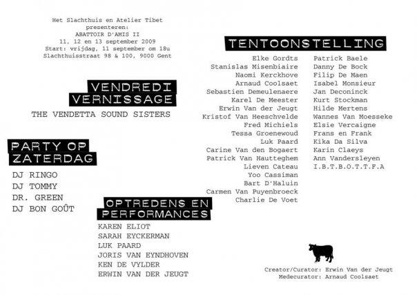 Karen Eliot at Abattoir d'Amis II – 11-12-13 sept – Gent