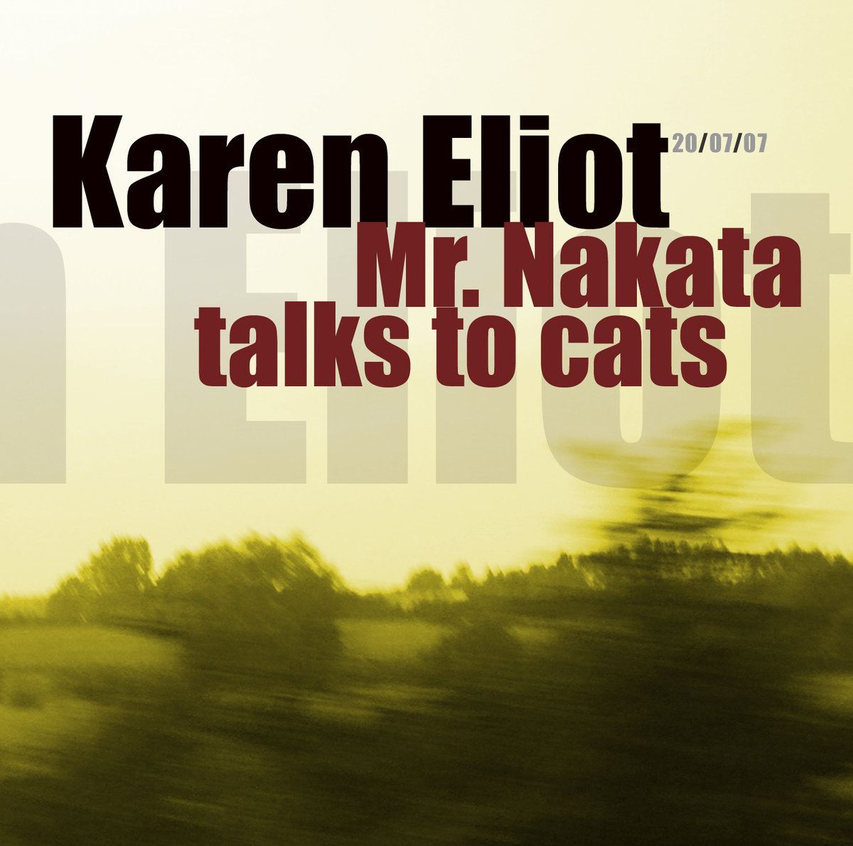 Mr. Nakata talks to cats